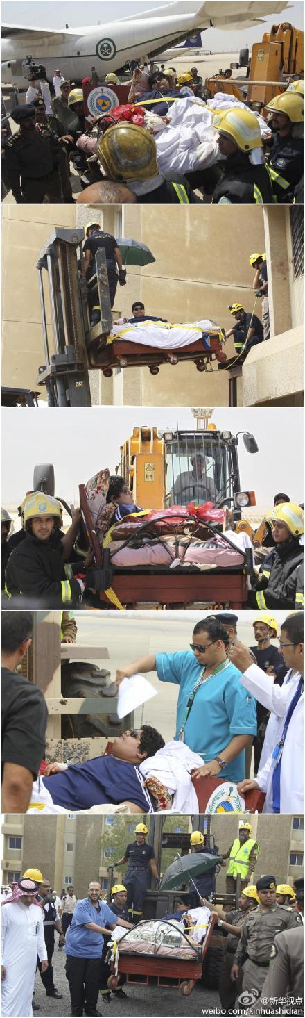 沙特610公斤男子_沙特出动起重机和空军送1220斤男子减肥就医(图)-搜狐滚动