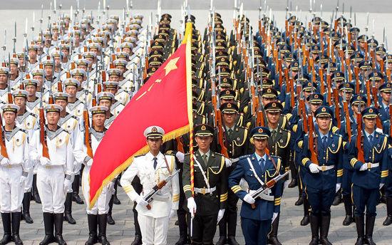 资料图:威武的中国人民解放军。