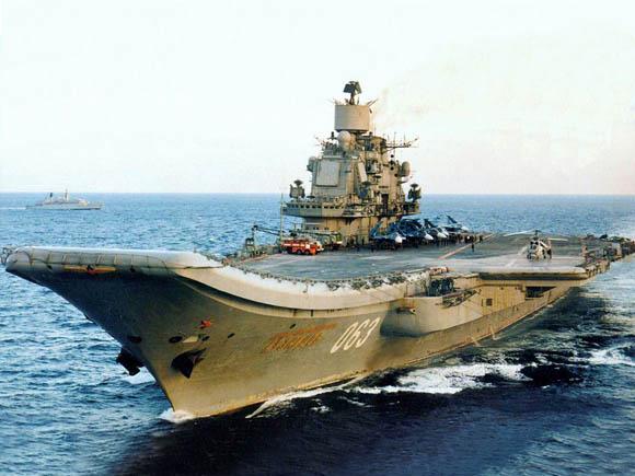 """资料图:俄罗斯""""库兹涅佐夫""""号航母。"""