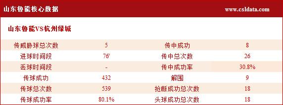 (2)山东鲁能核心数据