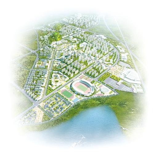 梁平新城区规划鸟瞰图