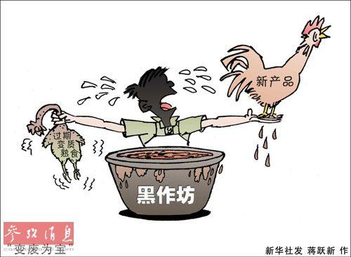 """福布斯:中国过期熟食""""美容变身""""循环上市"""