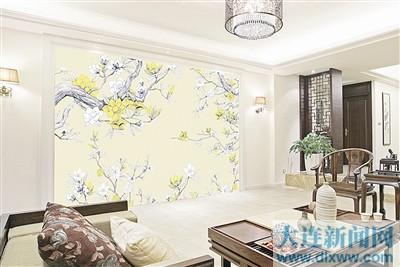 """中式手绘壁画也能""""小清新""""(组图)"""