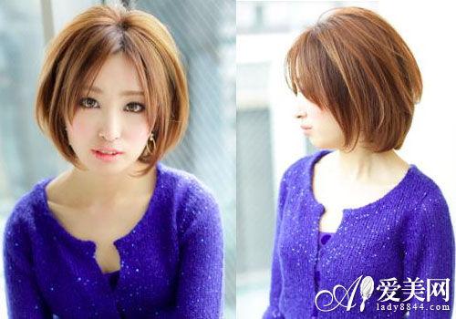 小清新女生短发发型 演绎甜美(组图)图片