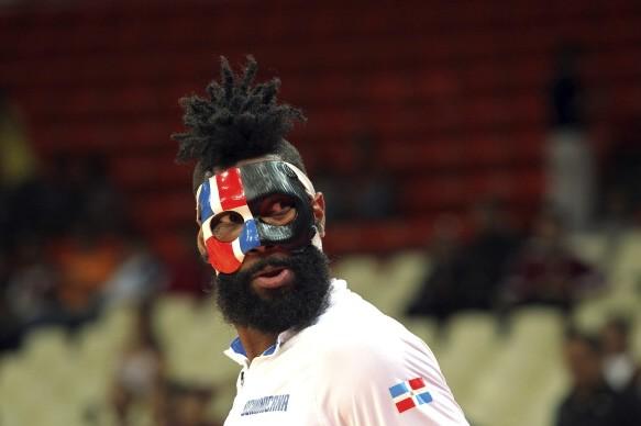 多米尼加队的杰克逊-马丁内斯个性面具