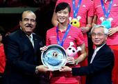 图文:[大奖赛]女排0-3巴西 惠若琪领银牌