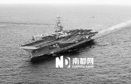 """米兹""""号核动力航空母舰战斗群.-美航母战斗群增援对叙动武 叙 不"""