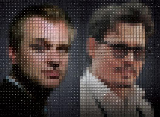 """诺兰、德普""""键盘脸""""海报"""