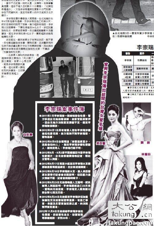 高产性爱影片_台湾警员揭李宗瑞性爱影片细节:比陈冠希还变态(组图)