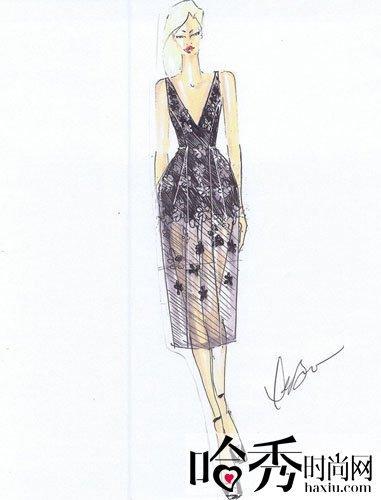春秋服装设计图手绘