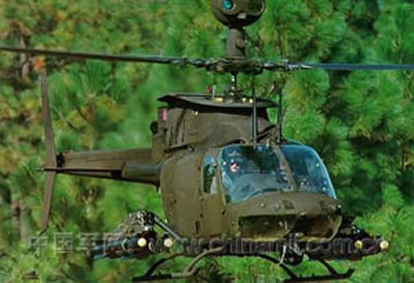 """美军""""Kiowa・OH-58D""""直升机"""