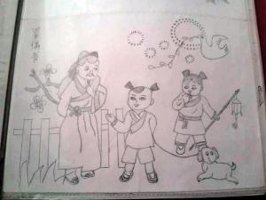 媒体新闻滚动_搜狐资讯  0 0 刘瑞兰老人创作的铅笔画《游子吟》(上)图片