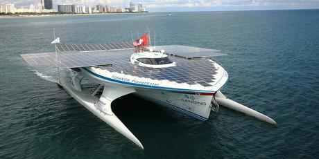 新西兰团队设计出世界上最大太阳能船 外形科幻