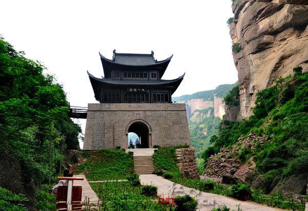 中国古城门简笔画