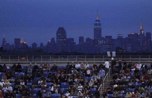 图文:美网纳达尔3-1小德夺冠 纽约的晚上