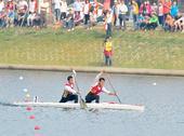 图文:男子1000米双人划艇 亚军被江西组合获得