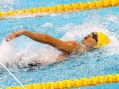 图文:男子4X100米混合泳接力 徐嘉余动作潇洒