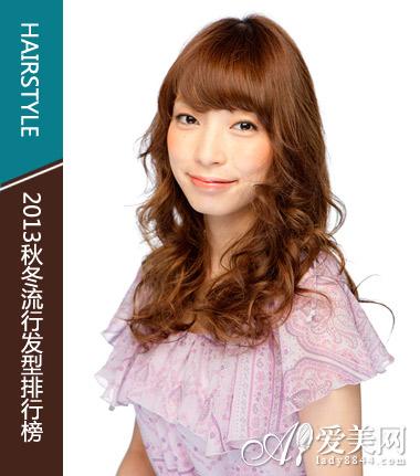 style10:斜刘海卷发图片