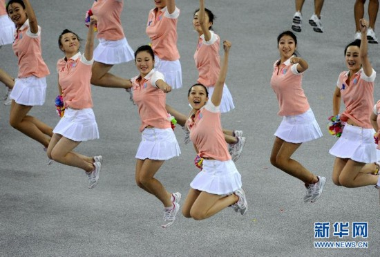 9月12日,第十二届体育综合在辽宁省全国运动中心训练馆闭幕.悠悠球教学飘线三角形图片