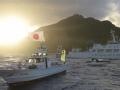 中日船只在钓鱼岛海域展开一对一较量