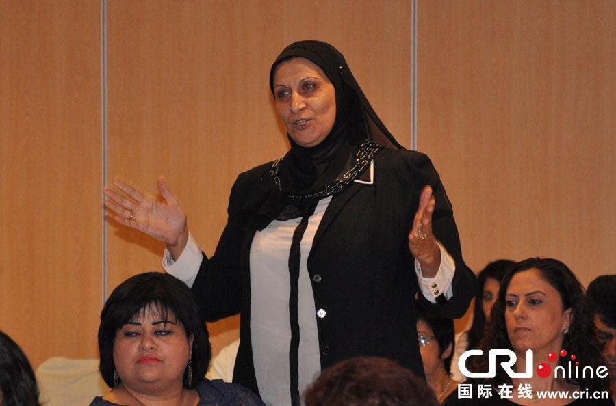 女性 张瑾/四位杰出阿拉伯女性代表就女性地位展开讨论。(摄影:张瑾)