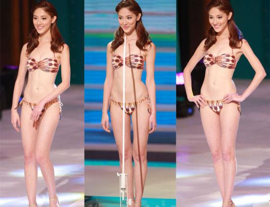 2013年香港小姐陈凯琳,身高1.65米,体重只有40公斤。图片来源:诸暨网