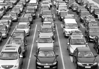 北京堵车高峰_这是北京早高峰期间双井桥附近的交通状况 (9月16日摄).