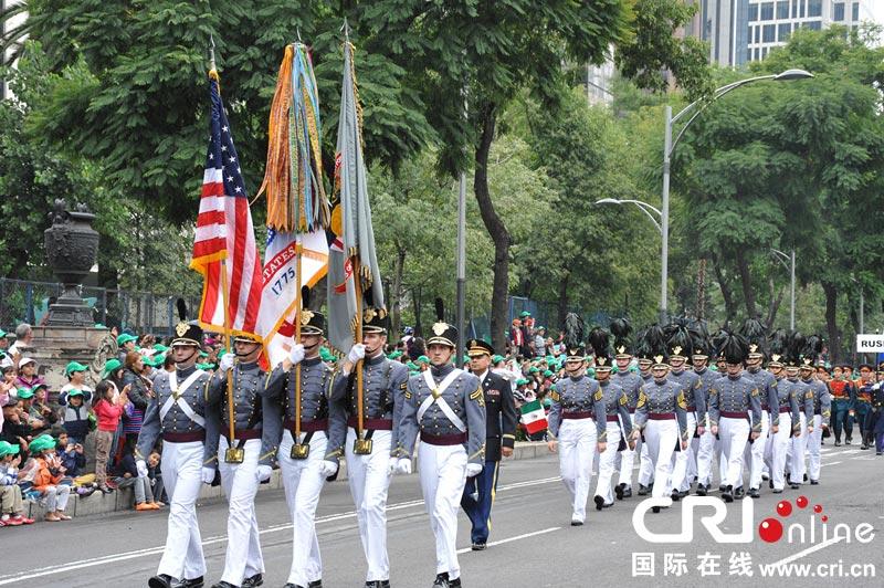 墨西哥举行盛大阅兵庆祝独立203周年 中国三军