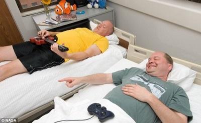 志愿者们需要在床上躺70天