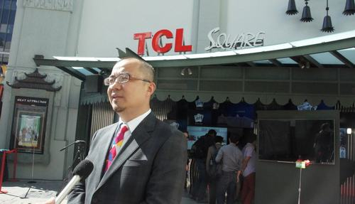"TCL集团梁总接受采访,诠释好莱坞TCL微电影节""活出色""主题"