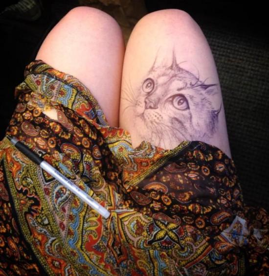 美女大学生大腿上作画蹿红网络组图 搜狐新闻