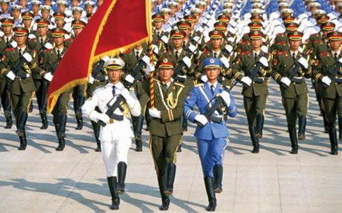 料图:中国人民解放军队列.-中国人民解放军 称谓的由来