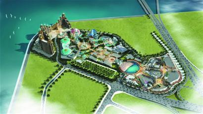 项目总占地397亩,规划总建筑面积41