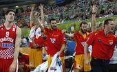 图文:[欧锦赛]西班牙胜克罗地亚 球员兴奋