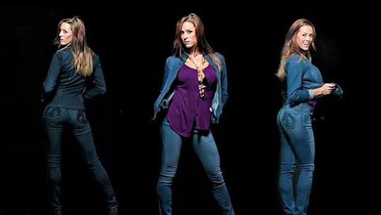 cocabang针对细腰大臀女性推出修身牛仔裤(图)