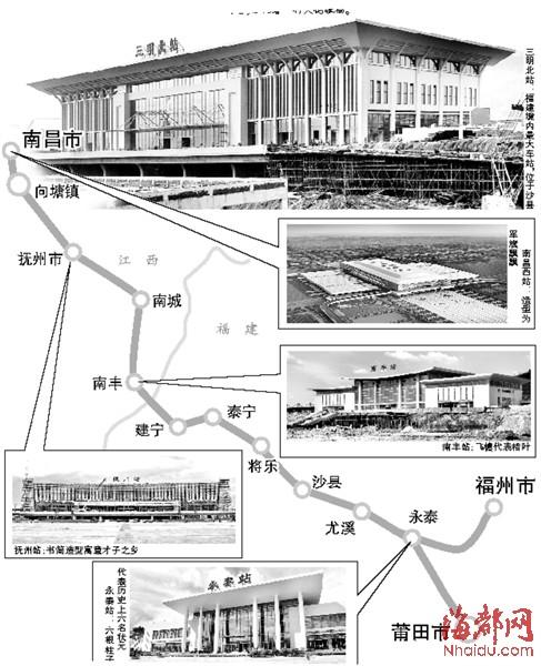 泰宁站:极具徽派建筑特点,位于泰宁县内