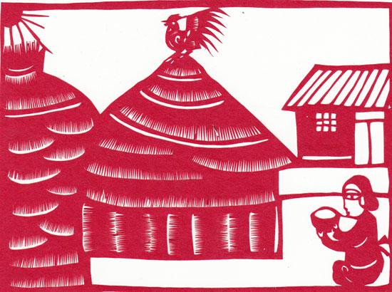 手工制作剪纸房子