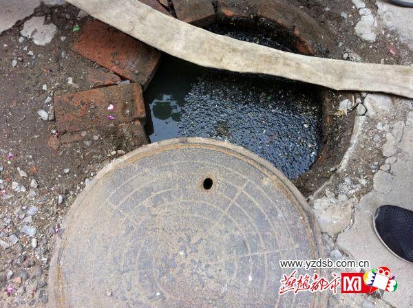 衡水一小区污水井旁没有下水管道 污水频繁上泛(组图)