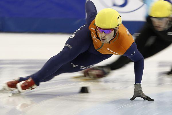 图文:短道速滑世界杯中国站 荷兰选手范德沃特
