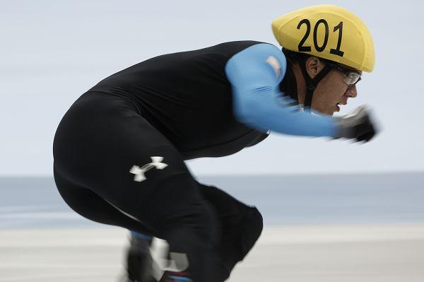 图文:短道速滑世界杯中国站 切尔斯基特写