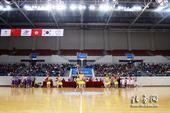 图文:东亚运赛事流程演练 拉拉队展示环节表演