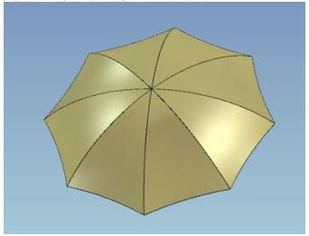 caxa三维cad教程:伞面儿的制作方法