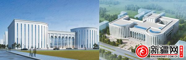 """自治区图书馆""""二期工程建设""""外立面效果图.(自治区图书馆提供)"""