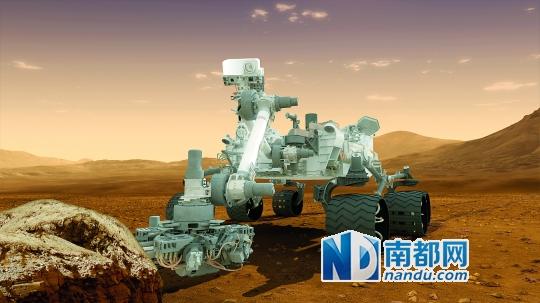 """正在火星上的""""好奇""""号火星车已进入""""保护模式""""。"""