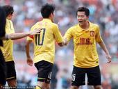 中超图:鲁能2-4恒大 黄博文与郑智庆祝