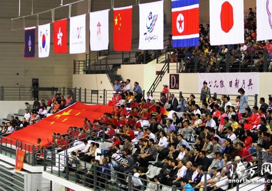 东亚运排球赛事精彩上演