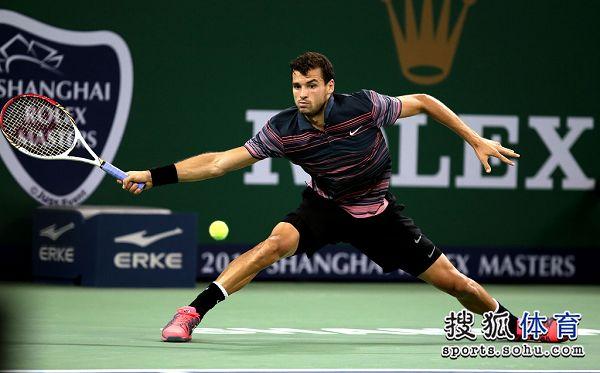 图文:上海赛锦织圭晋级次轮 季米特洛夫跨步