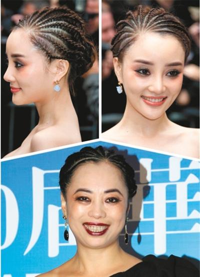 黄绮珊(下)华鼎奖妆容遭网友吐槽,发型被称