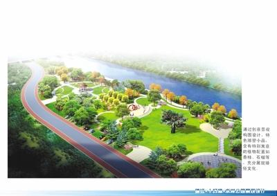 十圩港景观带效果图