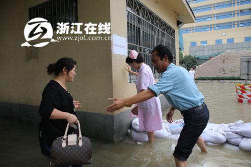 宁波市妇女儿童医院积水倒灌